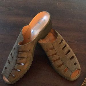 Romika suede clog size euro 41 US 11